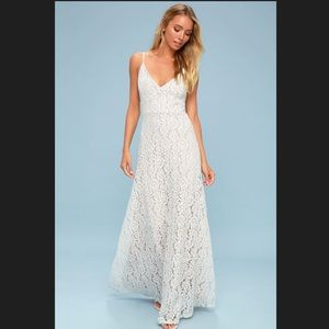 Cressida White Lace Maxi Dress from Lulu's